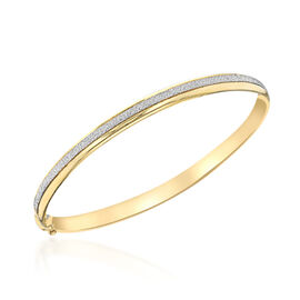 Super Auction- 9K Yellow Gold Stardust Bangle (Size 7), Gold wt 5.00 Gms