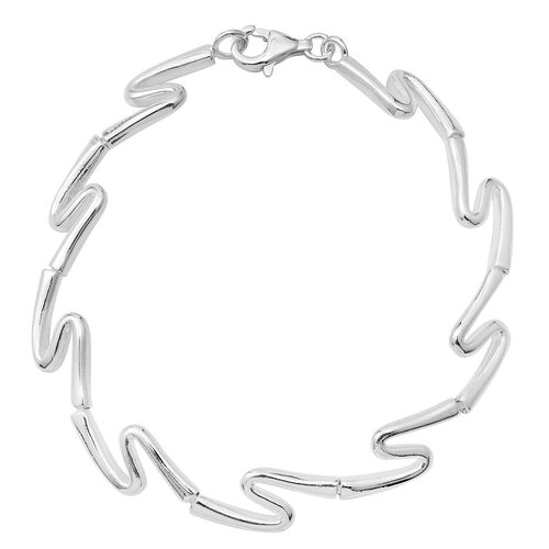 Istanbul Collection- Sterling Silver Bracelet (Size 7.5), Silver wt 9.30 Gms.