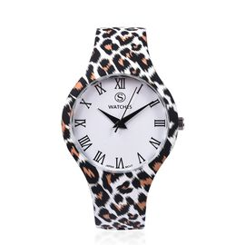 Designer Inspired - Japanese Movement Animal Print Stainless Steel Watch - Leopard