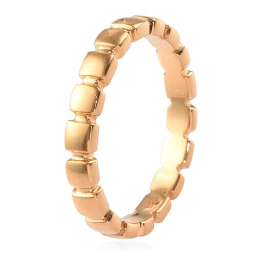 14K Yellow Gold Overlay Sterling Silver Band Ring