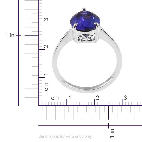 ILIANA 4.40 Ct AAA Tanzanite Solitaire Ring in 18K White Gold