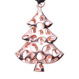 RACHEL GALLEY Latticework Christmas Tree Charm in Rose Gold Tone