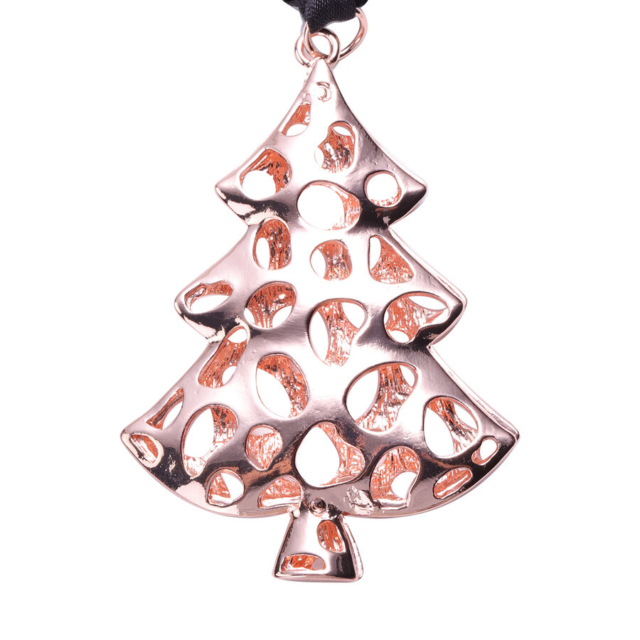 Rachel Galley Latticework Christmas Tree Baubles Charm In Rose Gold Tone 3689791 Tjc
