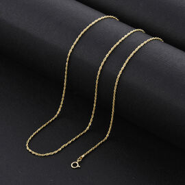 Biggest NY Close Out Deal- ILIANA 18K Yellow Gold Rope Necklace (Size - 20)