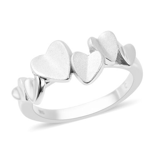 RACHEL GALLEY - Rhodium Overlay Sterling Silver Heart Ring