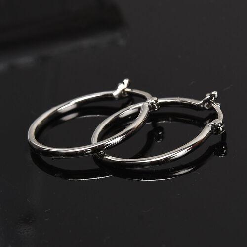 RHAPSODY 950 Platinum Hoop Earrings, Platinum Wt. 2.00 Gms