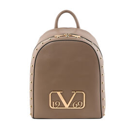 19V69 ITALIA by Alessandro Versace Backpack Bag with Zipper Closure (Size 25x30x12Cm) - Dark Beige