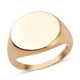 9K Yellow Gold Signet Ring, Gold wt 4.45 Gms