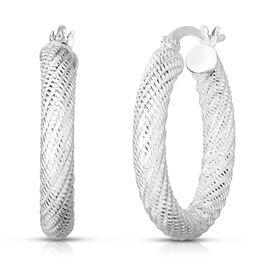 Designer Inspired- Sterling Silver Hoop Earrings (with Clasp)