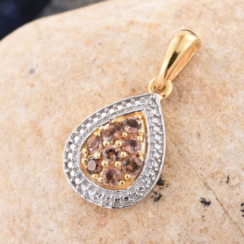Brazilian Andalusite (Rnd) Pendant in 14K Gold Overlay Sterling Silver 0.500 Ct.