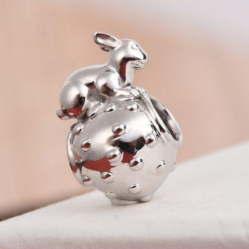 Charmes De Memoire Platinum Overlay Sterling Silver Bunny Charm