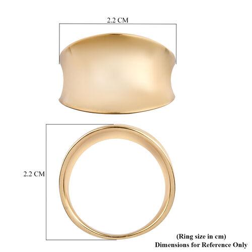 Designer Inspired- 14K Yellow Gold Overlay Sterling Silver Ring