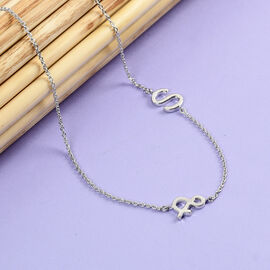 Personalise Single Alphabet + &, Name Necklace in Silver, Size 18+2 Inch
