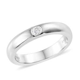 RHAPSODY 950 Platinum IGI Certified Diamond (Rnd) (VS/E-F) Solitaire Ring, Platinum wt 6.40 Gms.