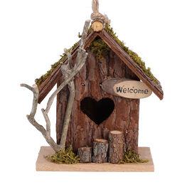 Handmade Wooden Bird Mansion - Log Colour