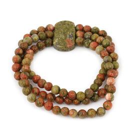 Unakite Stretchable Bracelet (Size 8.5) 188.00 Ct.