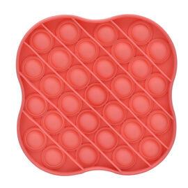 Push Bubble Stress Relieving Flower Fidget for Adults/Children in Orange (11.5x11.5cm)