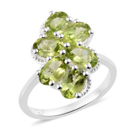 Hebei Peridot (Ovl) Ring in Sterling Silver 2.400 Ct.