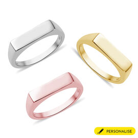 Personalise Engravable Rectangular Signet Ring