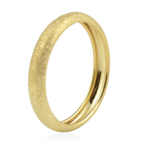 Vicenza Collection -9K Yellow Gold Stackable Band Ring