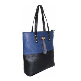 New Season: Tote Bag with Stud & Tassel Detail (39 x 36 x 12) - Navy & Black
