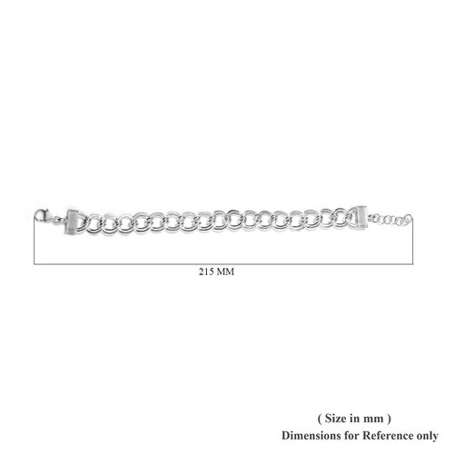 Sterling Silver Curb Bracelet (Size 7.5 with 1 inch Extender), SIlver wt. 18.73 Gms