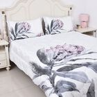 Super Auction - 4 Piece Set - Soft and Warm Microflannel Comforter Set (1 Duvet, 1 Fitted Sheet KING