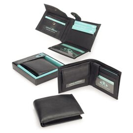 Close Out Deal 100% Genuine Leather Mens Wallet (Size 9x12 mm) Plain