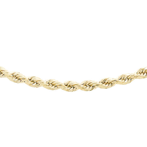 9K Yellow Gold Diamond Cut Rope Chain (Size 18), Gold wt 3.00 Gms