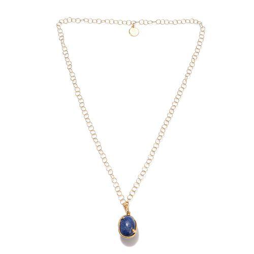 Sundays Child - Lapis Lazuli, Boi Ploi Black Spinel and Natural Cambodian Zircon Necklace (Size 32)