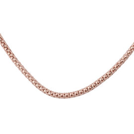 Rose Gold Overlay Sterling Silver Chain (Size 20), Silver wt 3.50 Gms