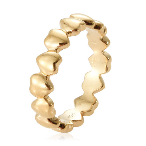 WEBEX- 14K Gold Overlay Sterling Silver Heart Shape Ring