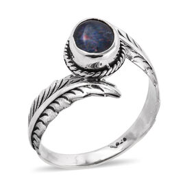 Royal Bali 1.27 Ct Boulder Opal Solitaire Ring in Sterling Silver 4.2 Grams