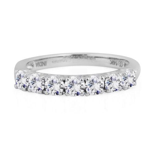 New York Close Out- 14K White Gold Diamond (Rnd) (I2/G-H) Ring 1.001 Ct.Size N