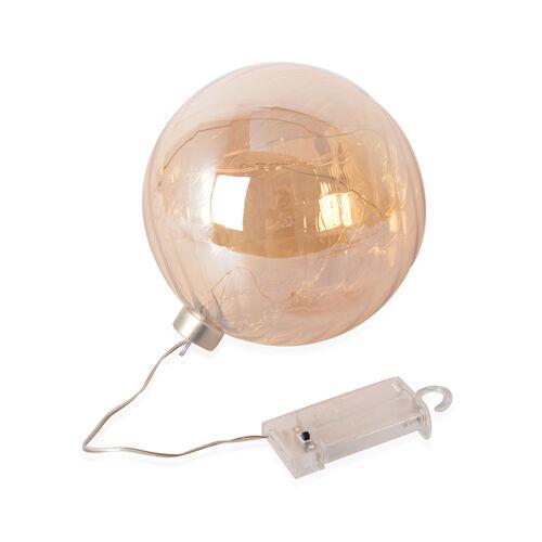 Translucent Ball Gold LED Light (Size 15 Cm)