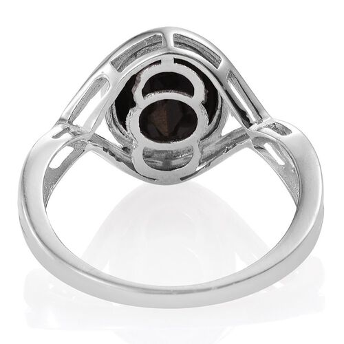 Natural Zawadi Golden Sheen Sapphire (Ovl) Solitaire Ring in Platinum Overlay Sterling Silver 4.500 Ct.