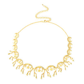 LucyQ Star Collection- Yellow Gold Overlay Sterling Silver Necklace (Size 20)