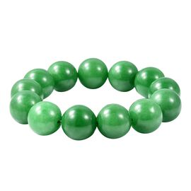 Green Jade (Rnd 17-19mm) Beads Bracelet 616.50 Ct.