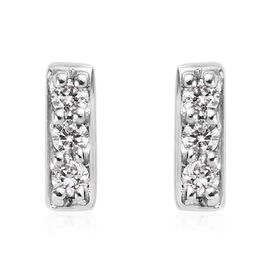 RHAPSODY 950 Platinum IGI Certified Natural Diamond (VS/E-F) Stud Earrings (with Screw Back) 0.10 Ct