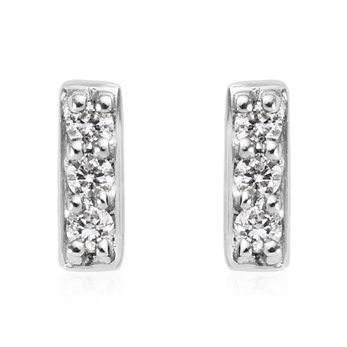 RHAPSODY 950 Platinum IGI Certified Natural Diamond (VS/E-F) Stud Earrings (with Screw Back) 0.10 Ct