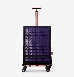FARINO Unique Top-Loading Bag On 360 Rollerblade Spinner Wheel in Purple and Rose Gold