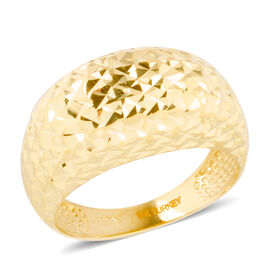 Ottoman Treasure 9K Y Gold Diamond Cut Ring, Gold wt 4.10  Gms.
