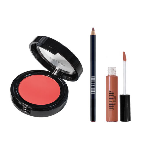 Lord & Berry: Warm Lip & Cheek Set - Cream Blush - Fusion , Ultimate Lipliner - Nude & Timeless Liqu