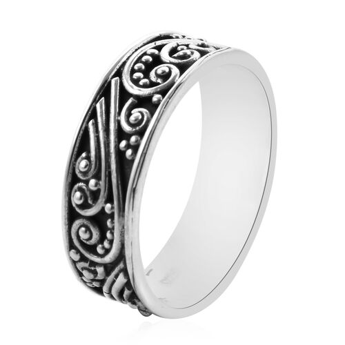 Royal Bali Collection - Sterling Silver Vines Band Ring