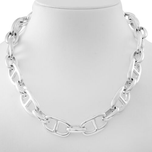 Designer Inspired-Sterling Silver Mariner Necklace (Size 20), Silver wt. 64.20 Gms.