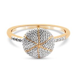 Diamond Ring in 14K Gold and Platinum Overlay Sterling Silver