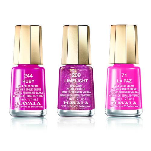 Pink Trio: La Paz (071), Limelight (209) & Ruby (244)