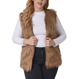 Brown Colour Faux Fur Gilet  (One Size Fits all)