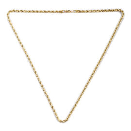 Royal Bali Collection - 9K Yellow Gold Rope Necklace (Size 20), Gold wt 6.60 Gms
