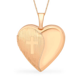 Heart Locket Pendant in 9K Rose Gold